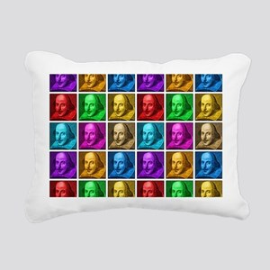 Pop Art Shakespeare Rectangular Canvas Pillow