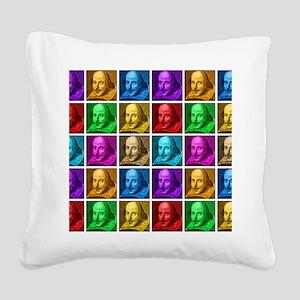 Pop Art Shakespeare Square Canvas Pillow