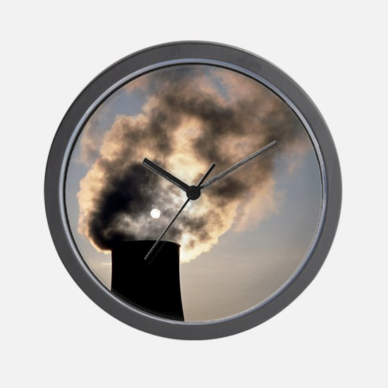 Cooling towers at Sellafield nuclear po Wall Clock