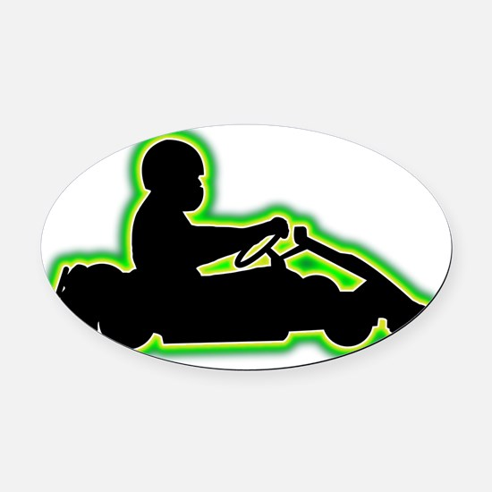 Go-Karting-AC Oval Car Magnet