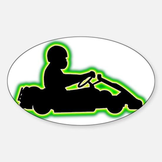 Go-Karting-AC Sticker (Oval)