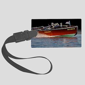 D1259-061boatart Large Luggage Tag