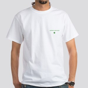 Support Farming White T-Shirt