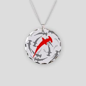 Circling Hammerhead Sharks Necklace Circle Charm