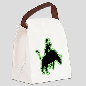 Bull-Riding-AC Canvas Lunch Bag