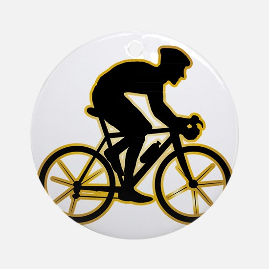 Bicycle-Racer-AD Round Ornament
