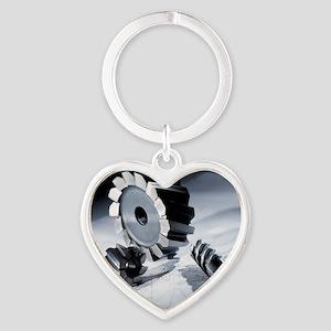 Drill Heart Keychain