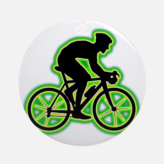 Bicycle-Racer-AC Round Ornament