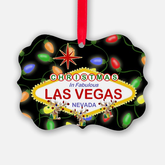 Las Vegas Christmas Lights Ornament