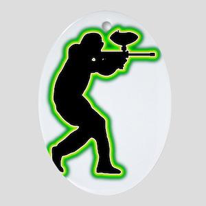 Paintball-AC Oval Ornament