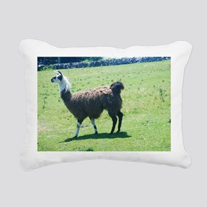 Lama in the pasture Rectangular Canvas Pillow