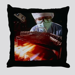 Drug manufacture: sealing injection a Throw Pillow