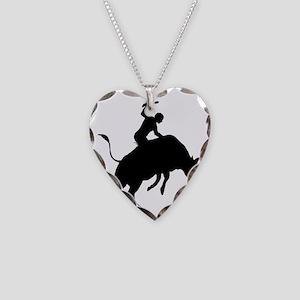 Bull-Riding-AA Necklace Heart Charm