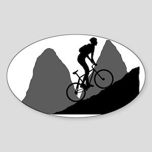 Mountain-Biking-AA Sticker (Oval)