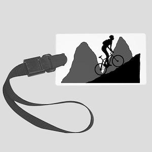 Mountain-Biking-AA Large Luggage Tag