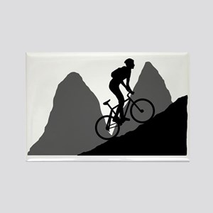 Mountain-Biking-AA Rectangle Magnet