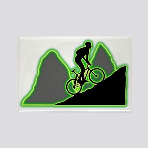 Mountain-Biking-AC Rectangle Magnet