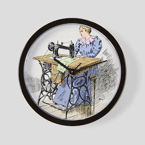 Electrical sewing machine, 1900 Wall Clock