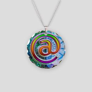 E-mail symbol Necklace Circle Charm