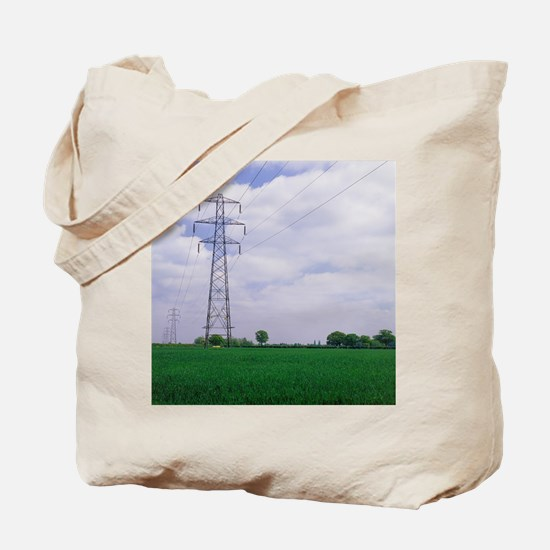 Electricity pylons Tote Bag