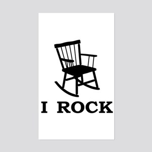I ROCK Rectangle Sticker