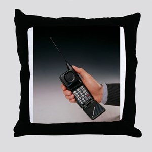 Early mobile phone Throw Pillow