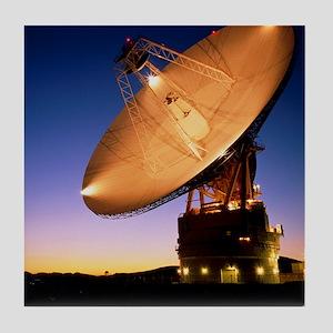 Diameter antenna of Goldstone satelli Tile Coaster