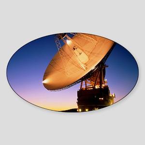 Diameter antenna of Goldstone satel Sticker (Oval)