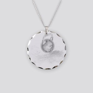 Kettlebell Necklace Circle Charm
