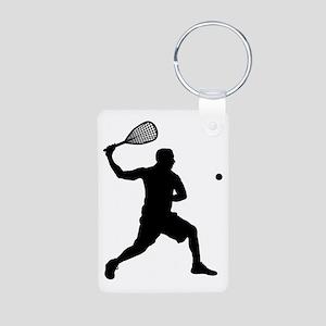 Squash-AA Aluminum Photo Keychain