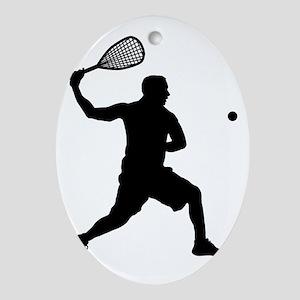 Squash-AA Oval Ornament