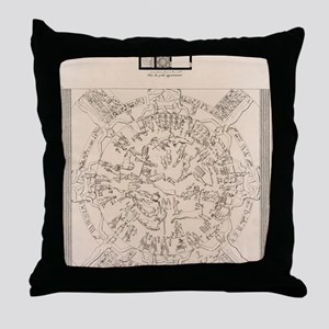 Dendera zodiac from the Temple of Hat Throw Pillow