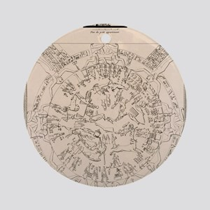 Dendera zodiac from the Temple of H Round Ornament
