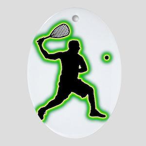 Squash-AC Oval Ornament