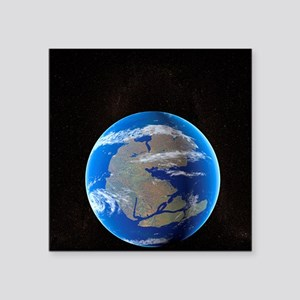 """Earth at time of Pangea Square Sticker 3"""" x 3"""""""