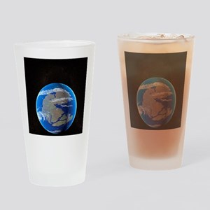 Earth at time of Pangea Drinking Glass