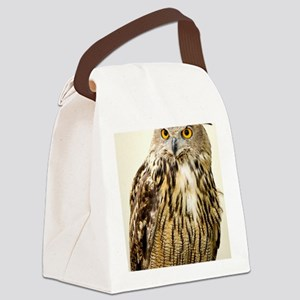 European eagle owl Canvas Lunch Bag