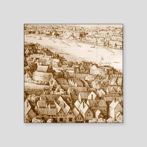 """globetheatre1-60 Square Sticker 3"""" x 3"""""""
