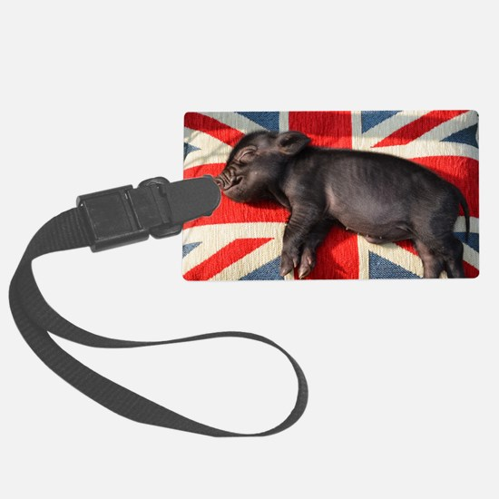 Micro pig chilling Luggage Tag