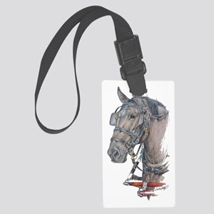 Percheron Draft horse harness Large Luggage Tag