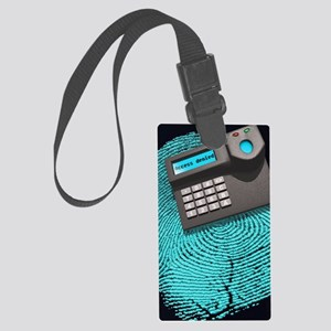 Fingerprint scanner Large Luggage Tag