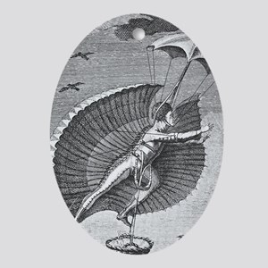 Flying costume Oval Ornament