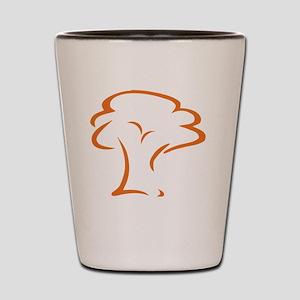 Orange Crossroads Tree Shot Glass