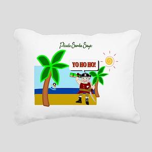 Pirate Santa sez YoHoHo Rectangular Canvas Pillow
