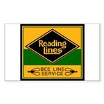 Reading Bee Lines Rectangle Sticker