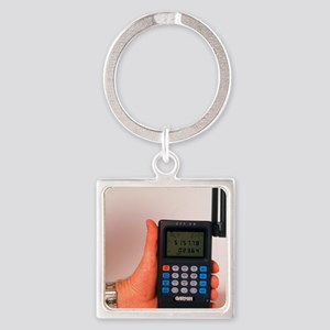 Hand-held GPS receiver Square Keychain