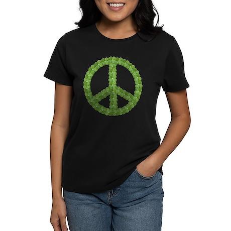 Peace Sign Clover Women's Dark T-Shirt
