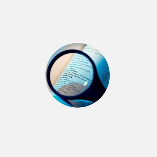 Financial paperwork Mini Button