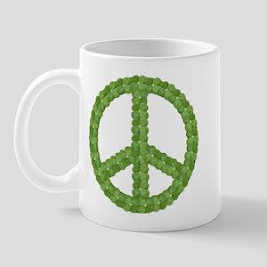 Peace Sign Clover Mug