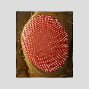 Fruit fly compound eye, SEM Throw Blanket